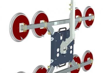 2 glaszuigers 1 handmatig en 1 met afstandsbediening: 1000kg met 8 zuignappen en 500kg met 4 zuignappen